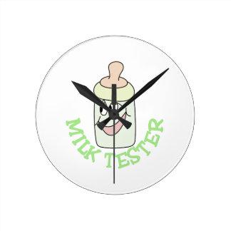 ミルクのテスター ラウンド壁時計