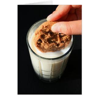 ミルクの挨拶状、メッセージカードのクッキーそしてガラス カード