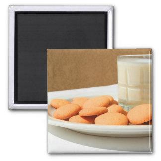 ミルクの磁石のバニラクッキーそしてガラス マグネット