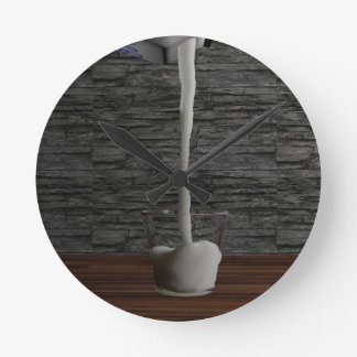 ミルクのGlas ラウンド壁時計
