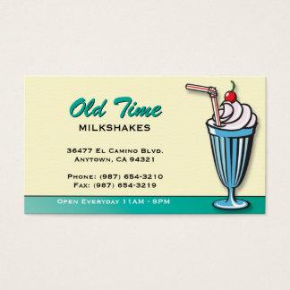 ミルクセーキのアイスクリーム店の名刺 名刺