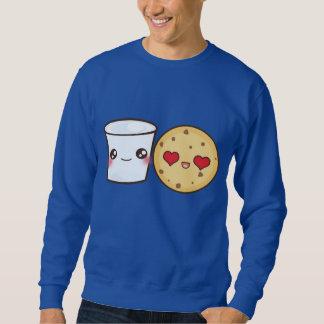 ミルク及びクッキーのカップル スウェットシャツ