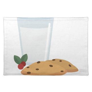 ミルク及びクッキー ランチョンマット