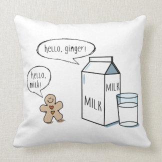 ミルク及びショウガの予測できなく白いクッション クッション