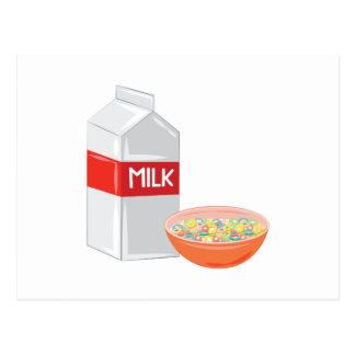 ミルク及び穀物 ポストカード
