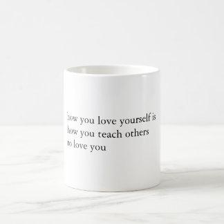 ミルク及び蜂蜜の引用文 コーヒーマグカップ