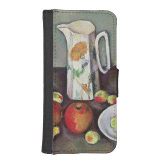 ミルク水差しおよびフルーツ、c.1886-90 (油が付いている静物画 iPhoneSE/5/5sウォレットケース