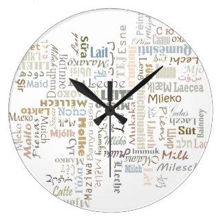 ミルク ラージ壁時計