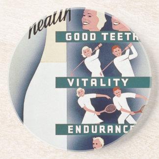 ミルク-健康、よい歯、活力、持久力のための… コースター