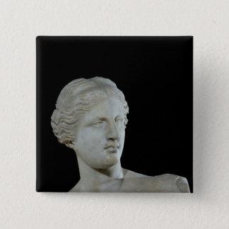 ミロのビーナスの頭部、紀元前のc.100 5.1cm 正方形バッジ