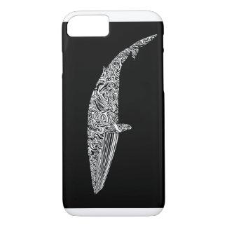 ミンククジラの種族の写実的な絵 iPhone 8/7ケース