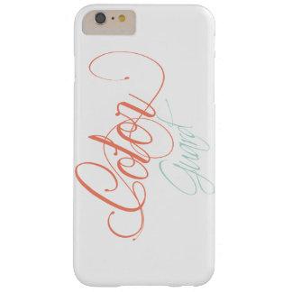 ミントおよび珊瑚の書かれたカラーガードのデザイン BARELY THERE iPhone 6 PLUS ケース