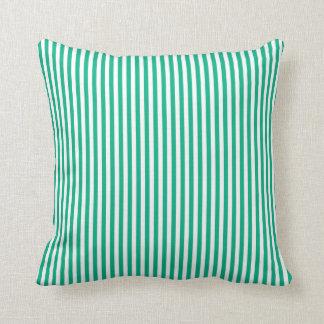 ミントのストライプの屋外の枕 クッション