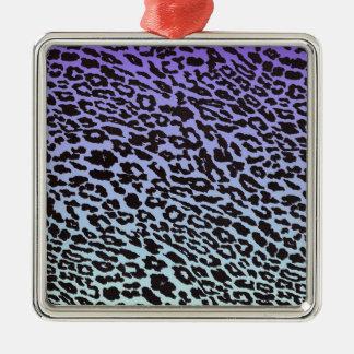ミント及び紫色はヒョウ衰退します メタルオーナメント