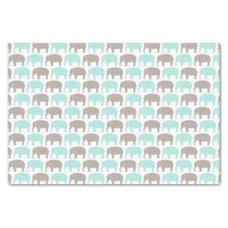 ミント灰色のベビー象のティッシュペーパー 薄葉紙