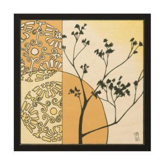 ミーガンMeagher著希薄な木のシルエット ウッドウォールアート