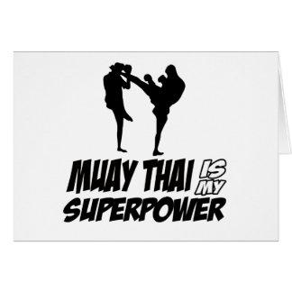 ムエタイの超出力のデザイン カード