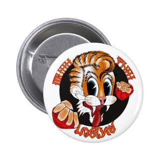 ムエタイ猫ボタンのバッジ 5.7CM 丸型バッジ