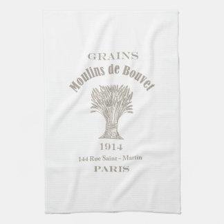 ムギのフランスのなシャフト キッチンタオル