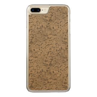ムギの自然なコルクの吠え声の一見木穀物 CARVED iPhone 8 PLUS/7 PLUS ケース
