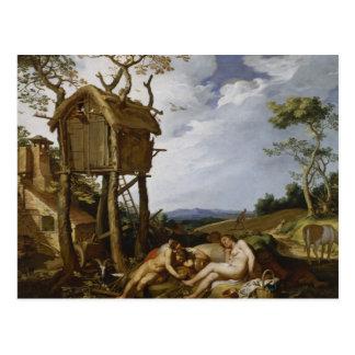ムギ、風袋-アブラハムBloemaert (1624年)の喩え ポストカード
