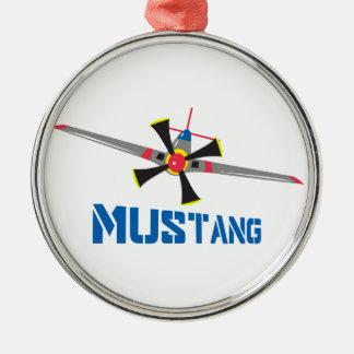 ムスタングの戦闘機 メタルオーナメント