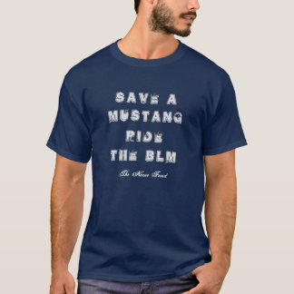 ムスタングを救いますか、またはBLMに乗って下さい Tシャツ