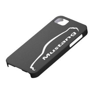 ムスタングGTのクーペの白いシルエットのロゴ iPhone SE/5/5s ケース