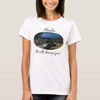 ムラサキ貝のシェルモデル; アラスカの記念品 Tシャツ