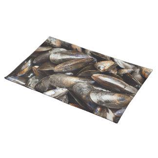 ムラサキ貝のテーブルのランチョンマット ランチョンマット