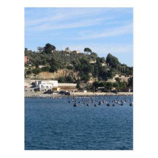 ムラサキ貝の農場とのGolfo Dei Poetiの景色 ポストカード