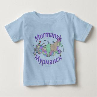 ムルマンスクロシアの地図 ベビーTシャツ