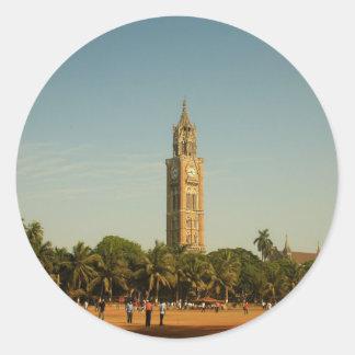 ムンバイの時計台 ラウンドシール