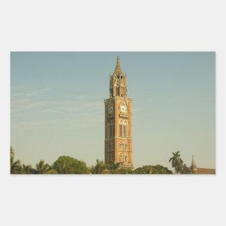 ムンバイの時計台 長方形シール