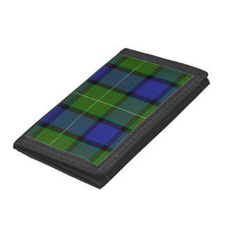 ムーアまたはMuirのタータンチェックの三つ折り財布 ナイロン三つ折りウォレット