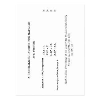 ムーアPenrose定義 ポストカード