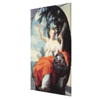 ムーサのウラニア1646-47年 キャンバスプリント