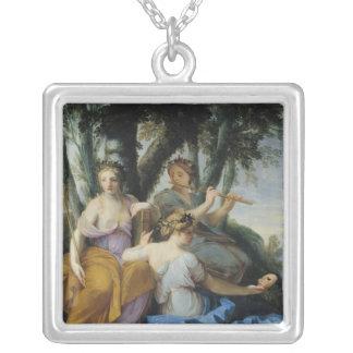 ムーサ、Clio、エウテルペおよびタリア、c.1652-55 シルバープレートネックレス