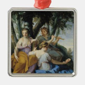 ムーサ、Clio、エウテルペおよびタリア、c.1652-55 メタルオーナメント
