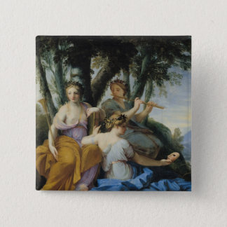 ムーサ、Clio、エウテルペおよびタリア、c.1652-55 5.1cm 正方形バッジ