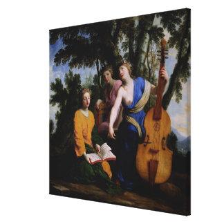 ムーサMelpomene、EratoおよびPolymnia 1652-55年 キャンバスプリント