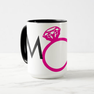 メイド・オブ・オーナー(花嫁付き添い人)のダイヤモンド指輪のショッキングピンク マグカップ