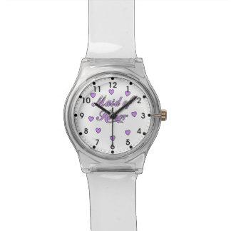 メイド・オブ・オーナー(花嫁付き添い人)の結婚式のハート 腕時計