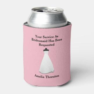 メイド・オブ・オーナー(花嫁付き添い人)または新婦付添人の招待 缶クーラー