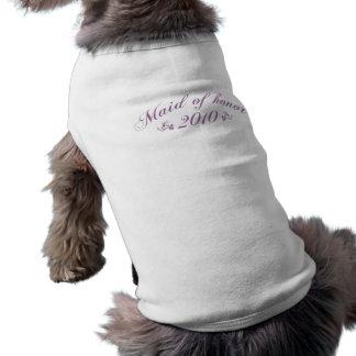 メイド・オブ・オーナー(花嫁付き添い人) 2010の紫色ペット衣類 犬用袖なしタンクトップ