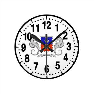 メイヨット(フランス)の紋章付き外衣 ラウンド壁時計