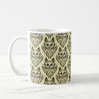 メインのあらいぐまのパターン(の模様が)あるなマグ コーヒーマグカップ