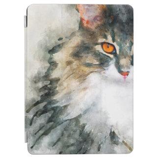 メインのあらいぐまの水彩画の芸術 iPad AIR カバー