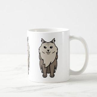 メインのあらいぐま猫の漫画 コーヒーマグカップ