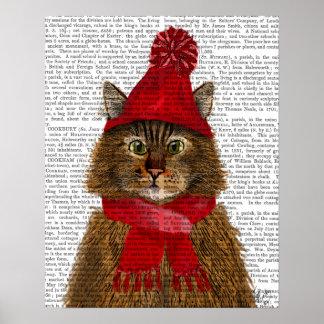 メインのあらいぐま猫 ポスター